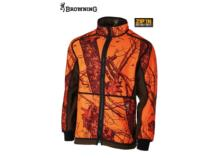 BROWNING Powerfleece Wendejacke Blaze Orange Camo/grün