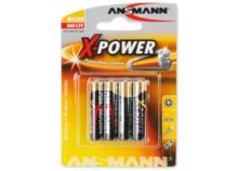 ANSMANN X-POWER Batterie 4x AAA